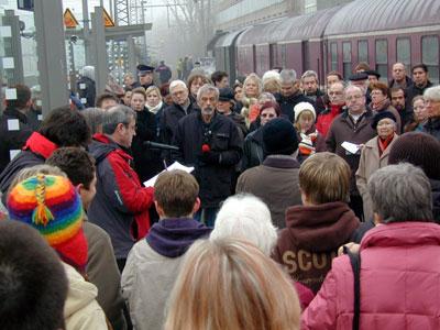"""Eröffnung der Ausstellung """"Zug der Erinnerung"""" in Bochum"""