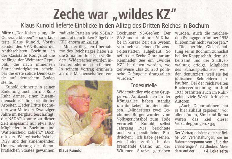 """RN: »Zeche war ein """"wildes KZ""""«"""